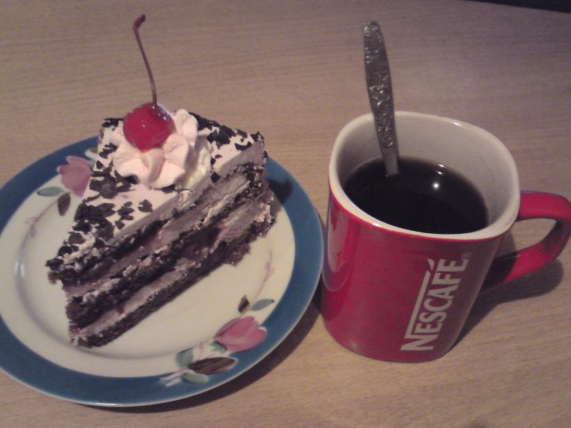 Фото кофе с тортиком